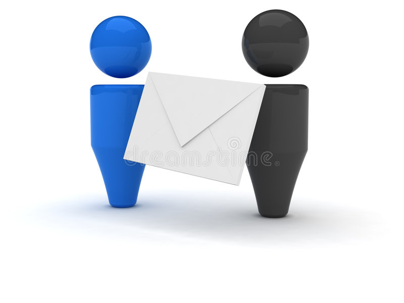 ícone do Web 3d - email ilustração stock