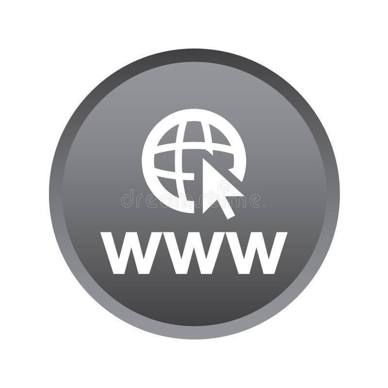 ícone do web browser ilustração royalty free