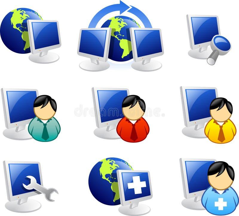 Ícone do Web e do Internet ilustração do vetor