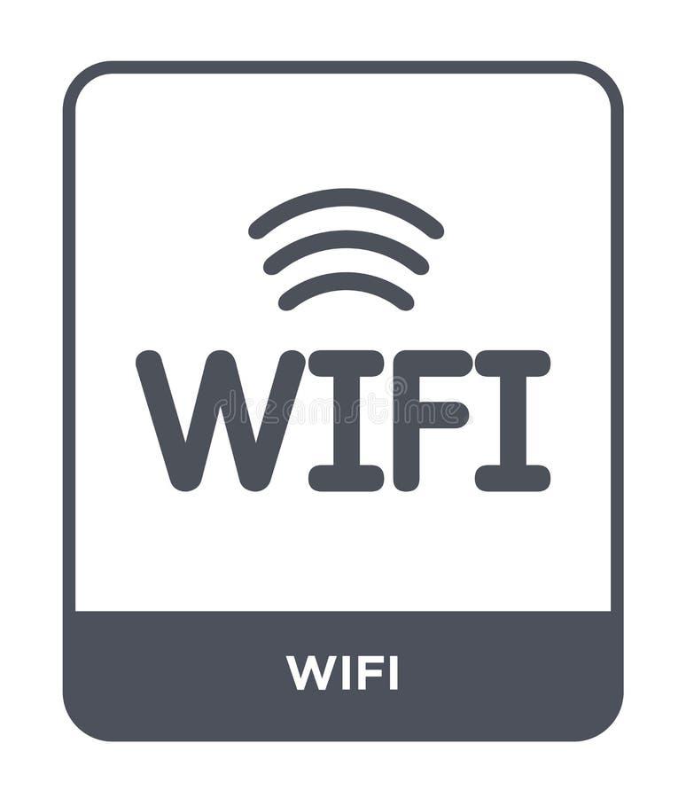 ícone do wifi no estilo na moda do projeto Ícone de Wifi isolado no fundo branco símbolo liso simples e moderno do ícone do vetor ilustração do vetor