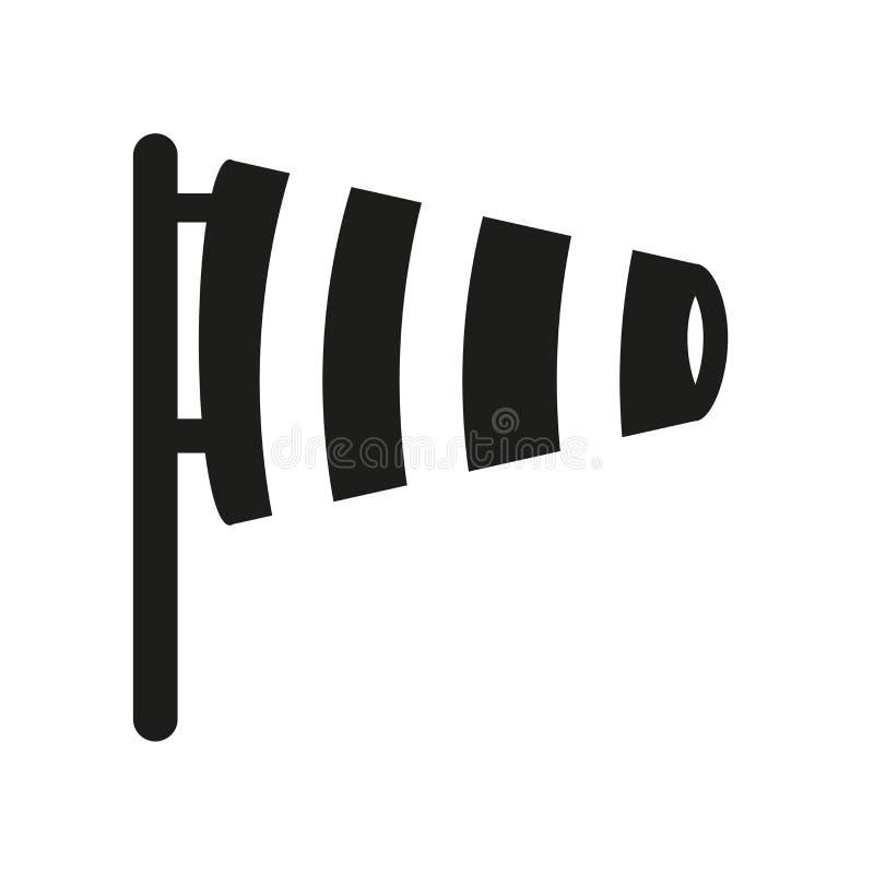 Ícone do Windsock Conceito na moda do logotipo do Windsock no fundo branco ilustração royalty free