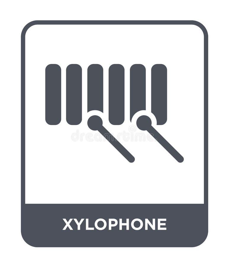 ícone do xilofone no estilo na moda do projeto Ícone do xilofone isolado no fundo branco plano simples e moderno do ícone do veto ilustração do vetor