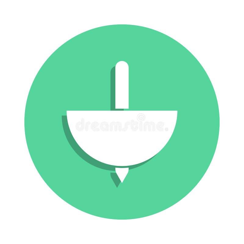 ícone do yule no estilo do crachá Um do ícone da coleção dos brinquedos pode ser usado para UI, UX ilustração stock