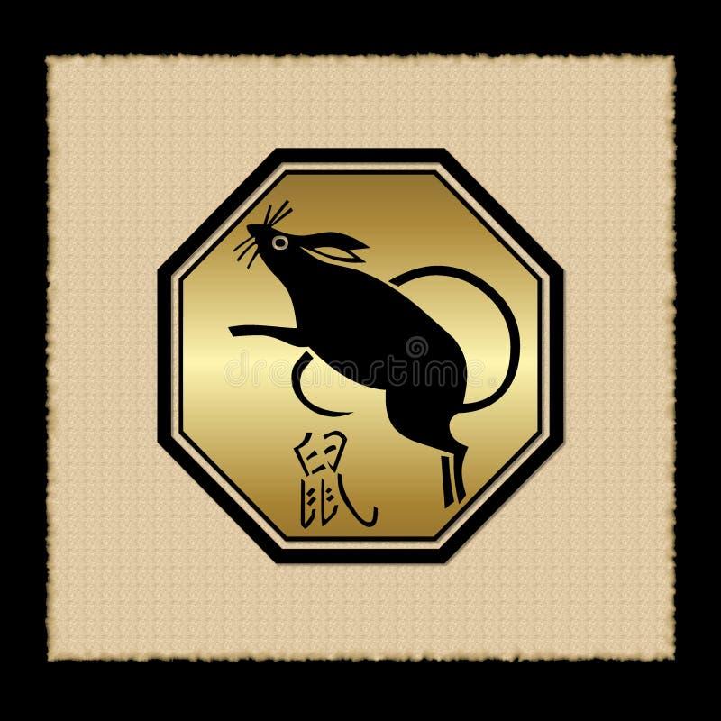 Ícone do zodíaco do rato ilustração royalty free