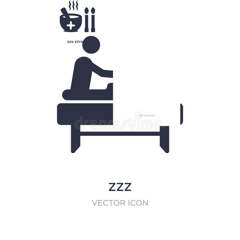 ícone do zzz no fundo branco Ilustração simples do elemento do conceito do bem-estar ilustração royalty free