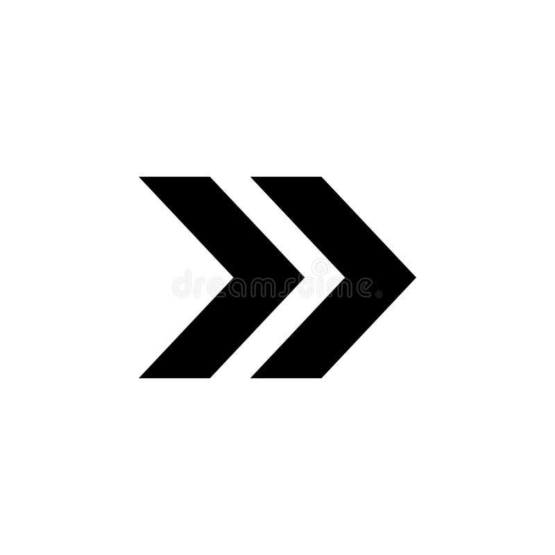 ícone dobro da seta Elemento do ícone simples para Web site, design web, app móvel, gráficos da informação Sinais e ícone f da co ilustração stock