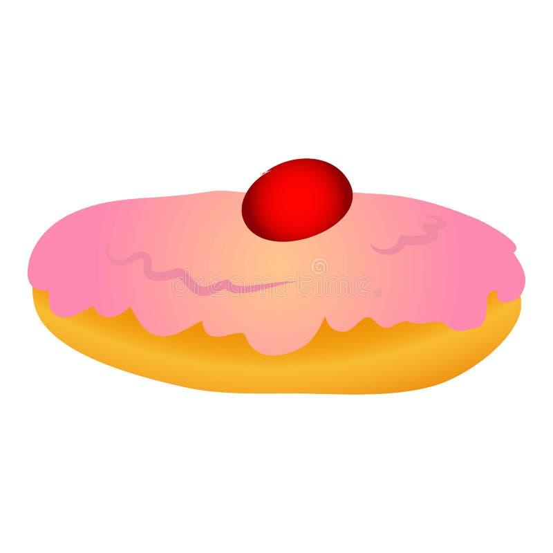 Ícone doce do bolo do Hanukkah, estilo dos desenhos animados ilustração stock