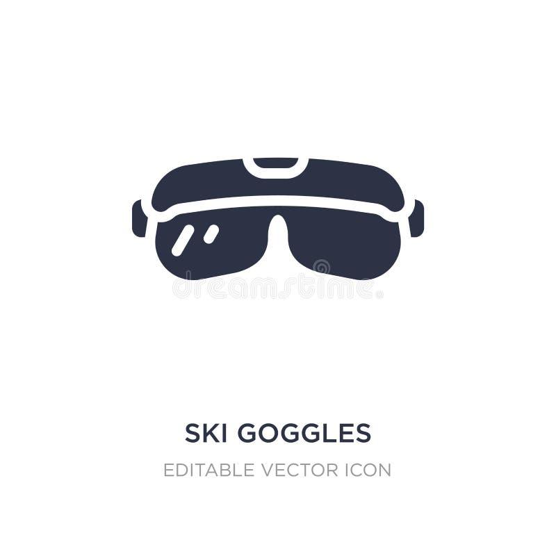 ícone dos óculos de proteção do esqui no fundo branco Ilustração simples do elemento do conceito da segurança ilustração royalty free