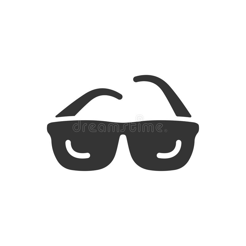 Ícone dos óculos de sol ilustração royalty free