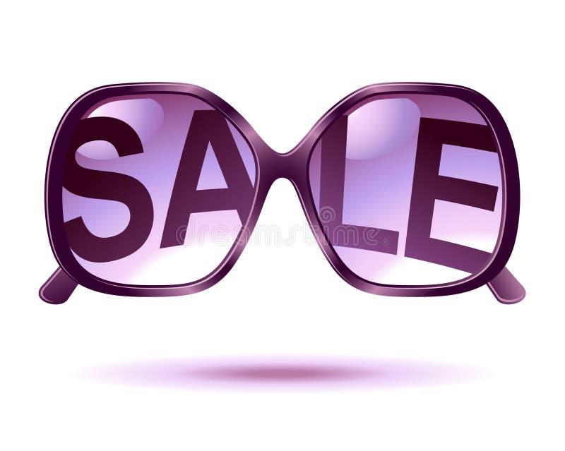 Ícone dos óculos de sol da venda ilustração do vetor