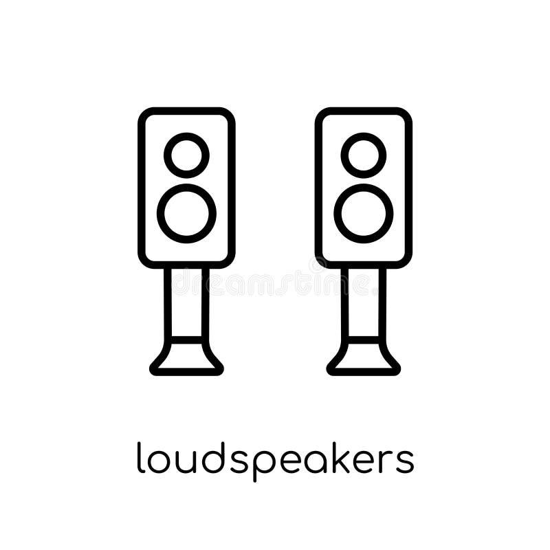 ícone dos altifalante Altifalante lineares lisos modernos na moda do vetor ilustração stock