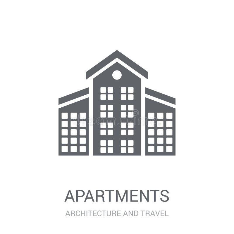 Ícone dos apartamentos  ilustração stock