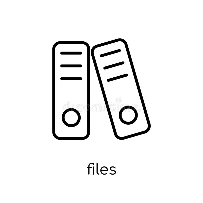 Ícone dos arquivos da coleção ilustração stock