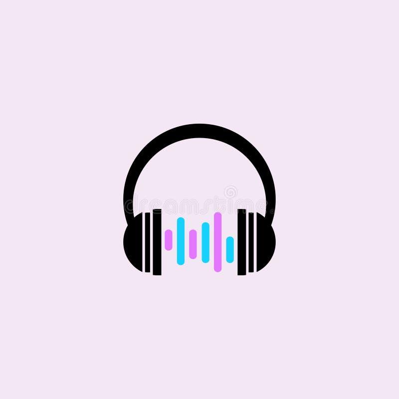 Ícone dos auscultadores do vetor audio volume Ilustração do vetor Eps 10 ilustração stock