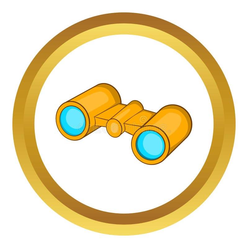 Ícone dos binóculos ilustração royalty free