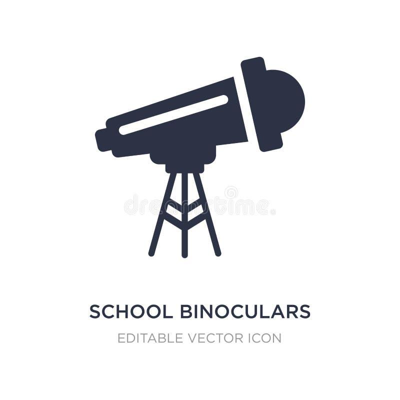 ícone dos binóculos da escola no fundo branco Ilustração simples do elemento do conceito geral ilustração do vetor