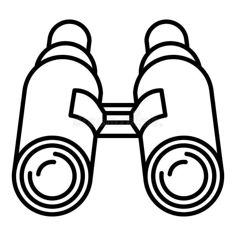 Ícone dos binóculos do atirador furtivo, estilo do esboço ilustração royalty free