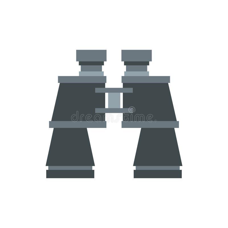 Ícone dos binóculos, estilo liso ilustração royalty free