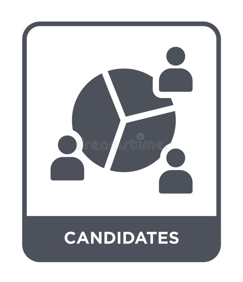 ícone dos candidatos no estilo na moda do projeto ícone dos candidatos isolado no fundo branco ícone do vetor dos candidatos simp ilustração do vetor