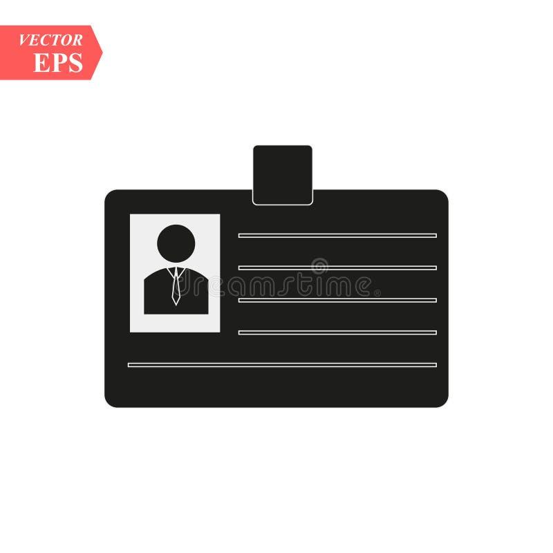 Ícone dos cartões da identificação - etiqueta do nome do vetor - símbolo eps10 do crachá da identidade ilustração do vetor