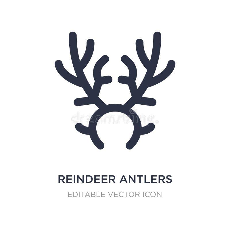 ícone dos chifres da rena no fundo branco Ilustração simples do elemento do conceito do Natal ilustração royalty free