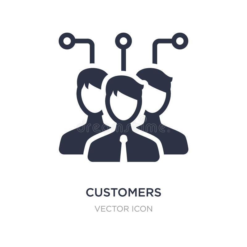 ícone dos clientes no fundo branco Ilustração simples do elemento do conceito da tecnologia ilustração stock