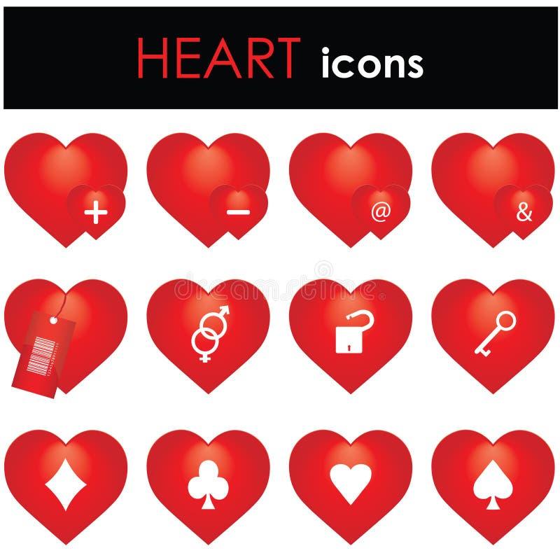 Ícone dos corações ilustração royalty free