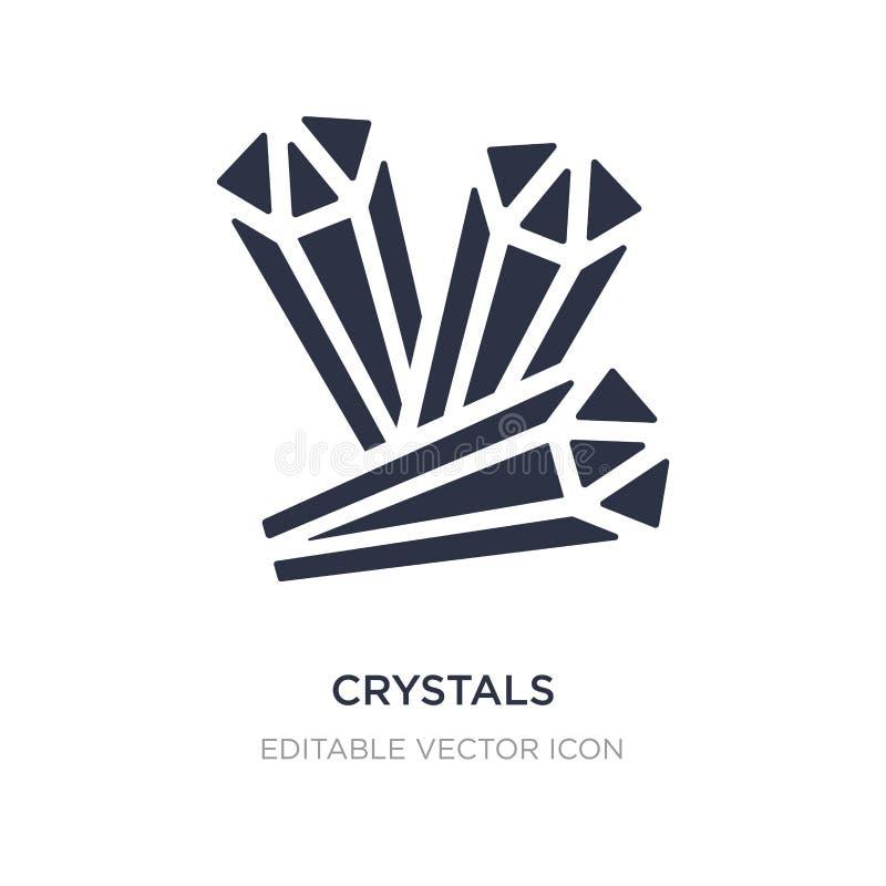 ícone dos cristais no fundo branco Ilustração simples do elemento do conceito de Dia das Bruxas ilustração stock