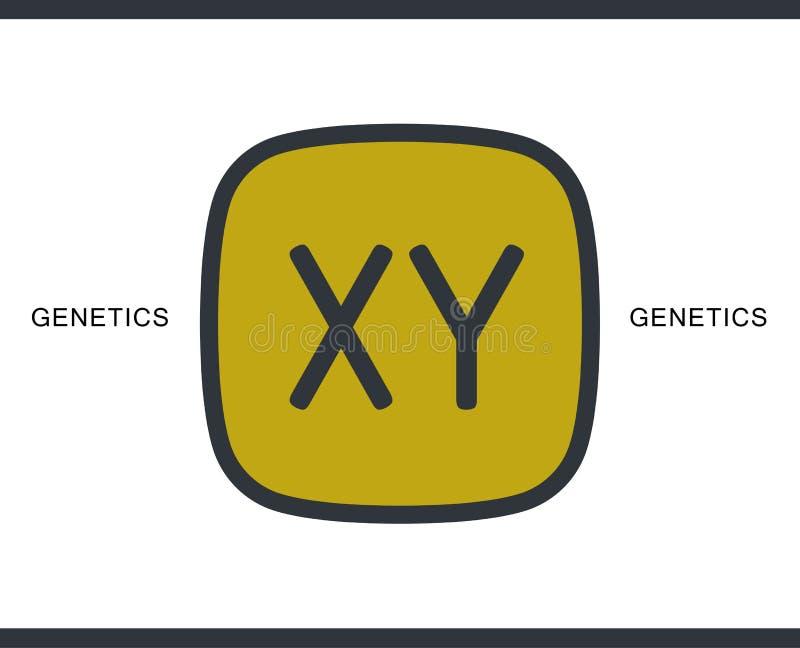 Ícone dos cromossomas para infographic, o Web site ou o app foto de stock