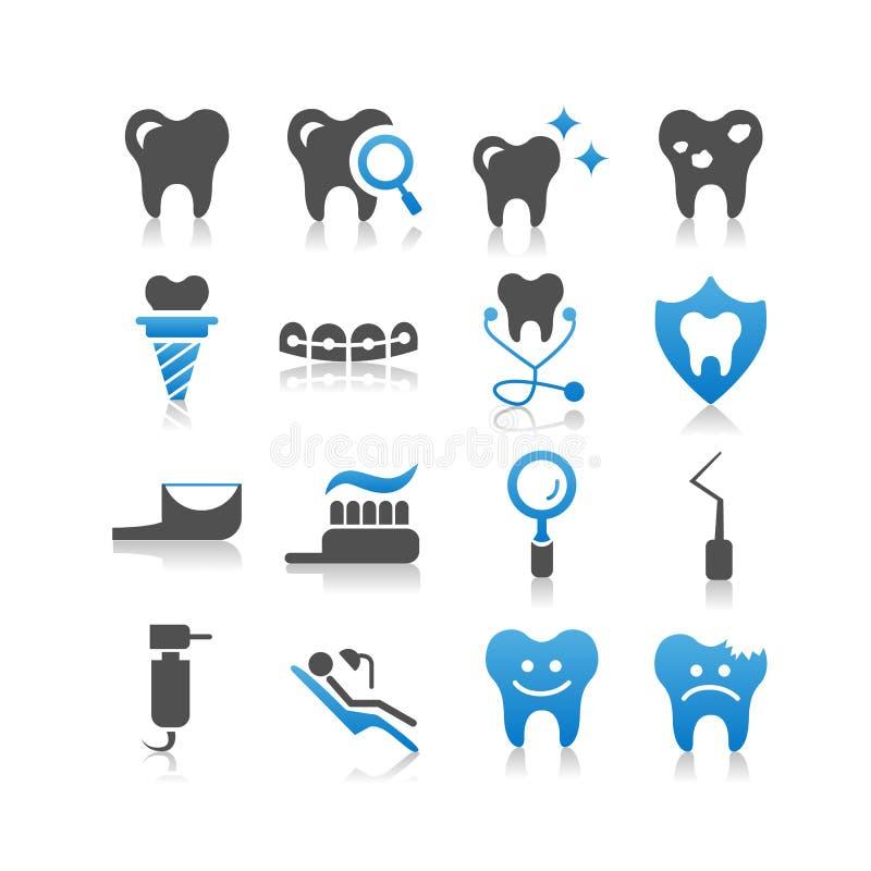 Ícone dos cuidados dentários ilustração stock