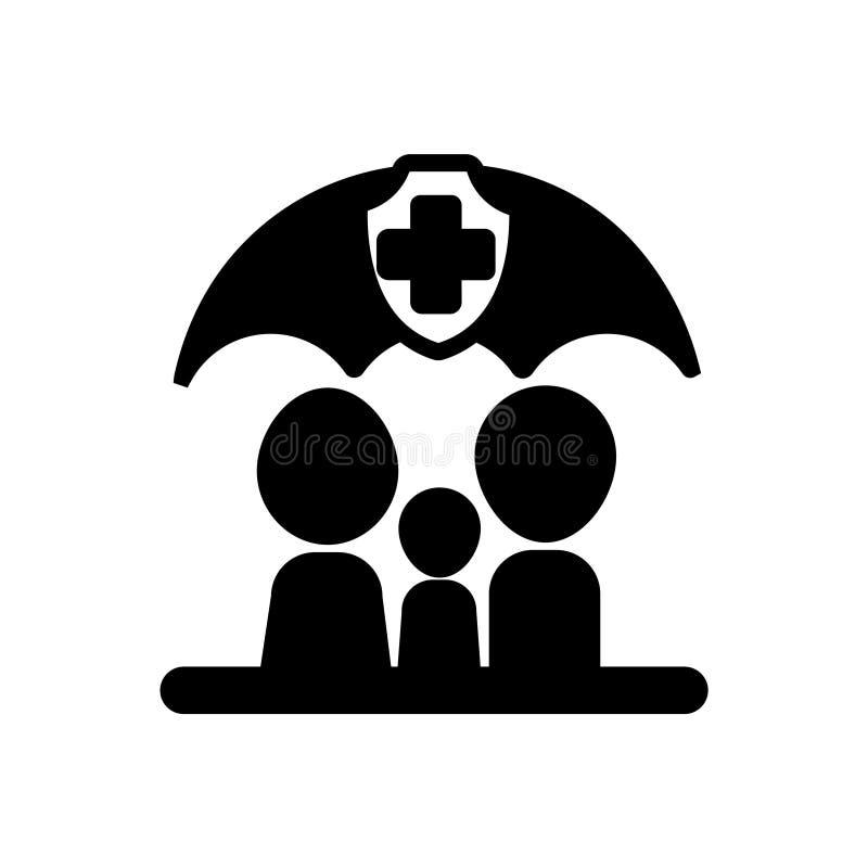 ícone dos cuidados médicos da família do vetor do ícone dos cuidados médicos para seu negócio ilustração stock
