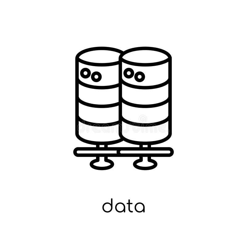 ícone dos dados  ilustração stock