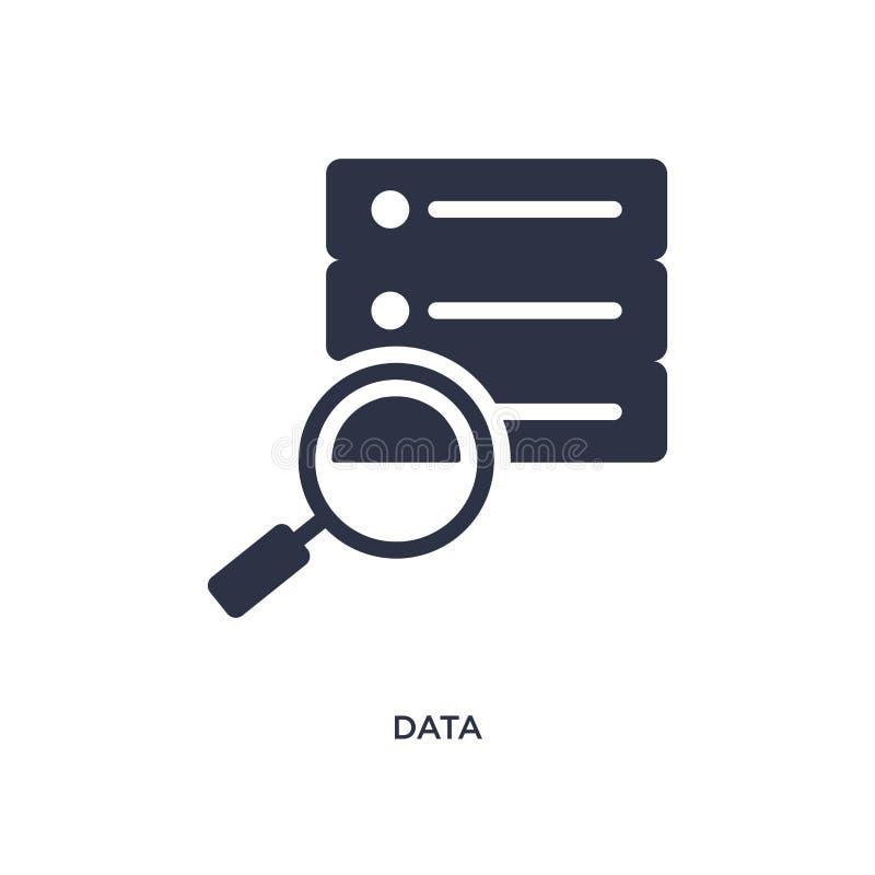 Ícone dos dados no fundo branco Ilustração simples do elemento do conceito da estratégia ilustração royalty free