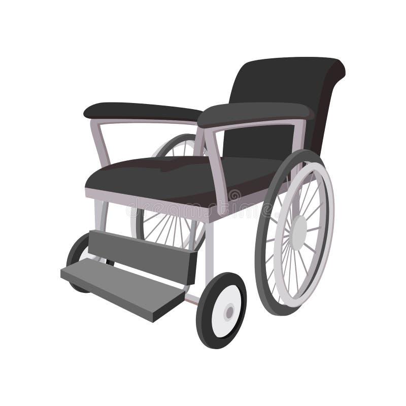 Ícone dos desenhos animados da cadeira de rodas ilustração do vetor