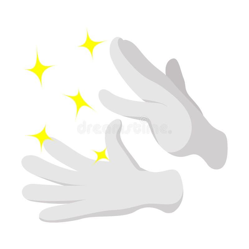 Ícone dos desenhos animados das luvas do mágico ilustração do vetor
