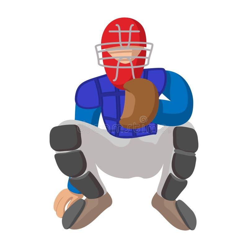 Ícone dos desenhos animados do coletor do basebol ilustração do vetor