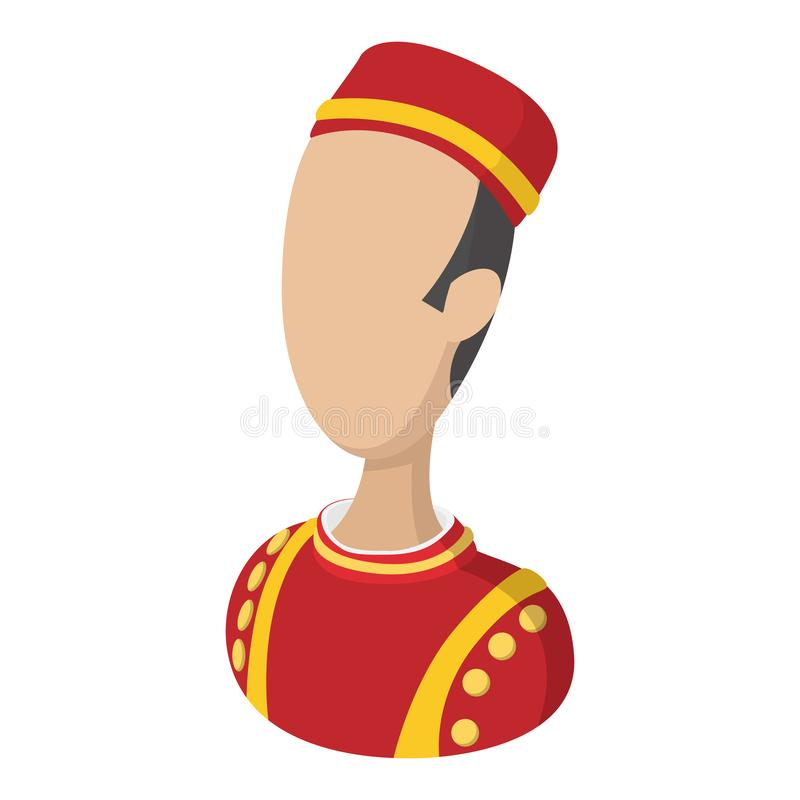Ícone dos desenhos animados do mandarete ilustração royalty free
