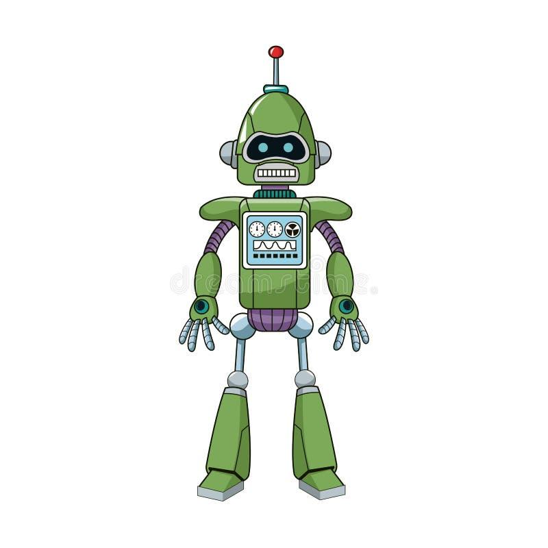 Ícone dos desenhos animados do robô ilustração do vetor