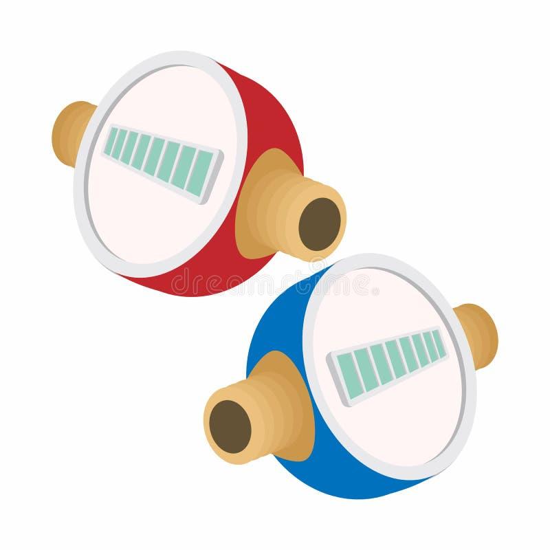 Ícone dos desenhos animados dos medidores de água ilustração stock