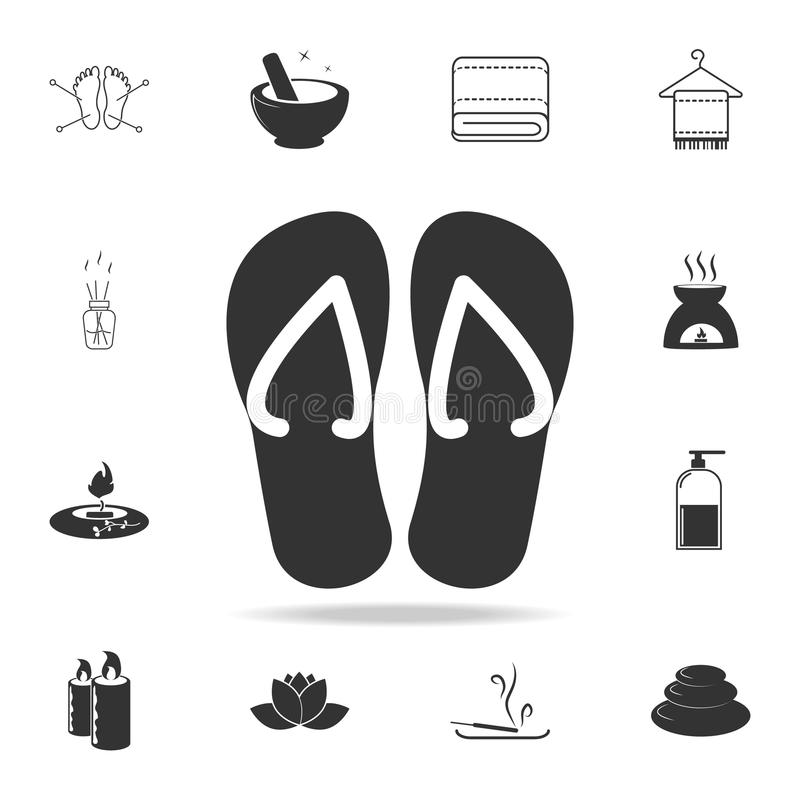 Ícone dos deslizadores da praia Grupo detalhado de ícones dos TERMAS Projeto gráfico da qualidade superior Um dos ícones da coleç ilustração do vetor
