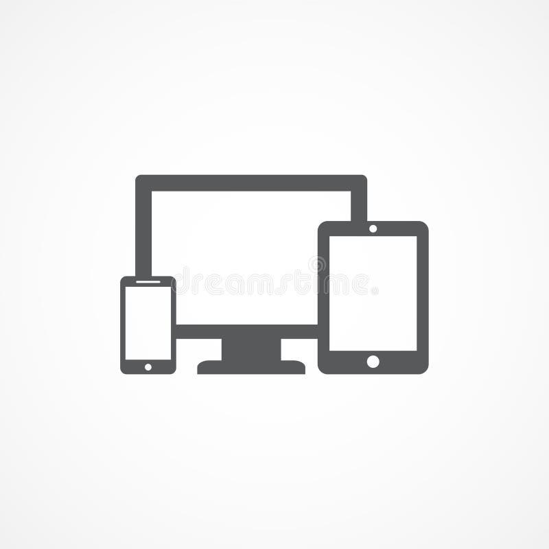 Ícone dos dispositivos ilustração stock