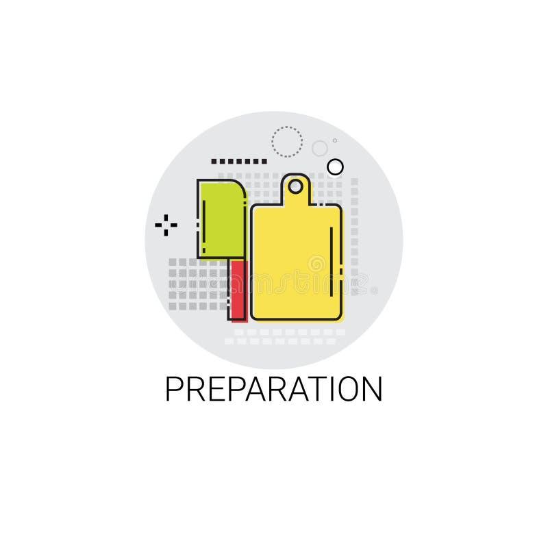 Ícone dos dispositivos do equipamento da cozinha dos utensílios de cozimento da preparação ilustração stock