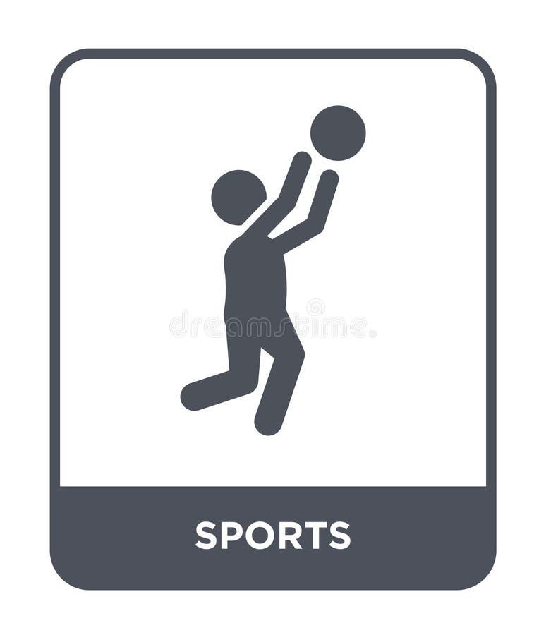 ícone dos esportes no estilo na moda do projeto ícone dos esportes isolado no fundo branco símbolo liso simples e moderno do ícon ilustração royalty free