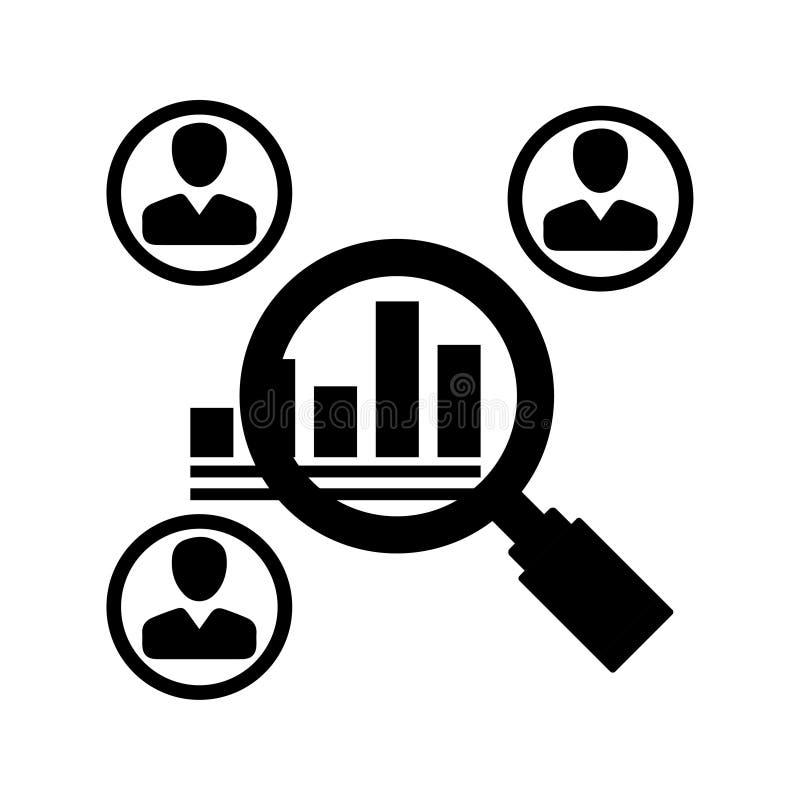 Ícone dos estudos de mercado ilustração do vetor