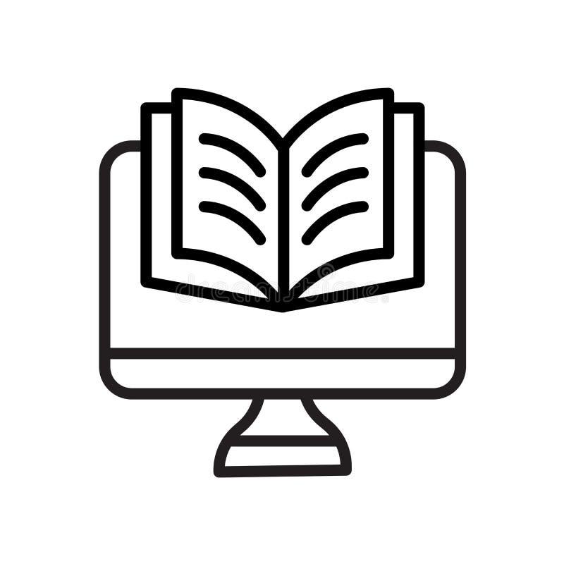 Ícone dos estudos isolado no fundo branco ilustração do vetor