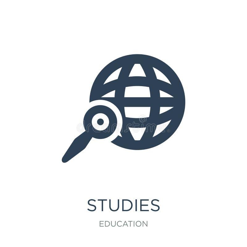 ícone dos estudos no estilo na moda do projeto Ícone dos estudos isolado no fundo branco símbolo liso simples e moderno do ícone  ilustração do vetor