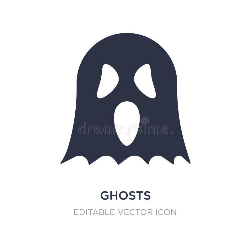 ícone dos fantasmas no fundo branco Ilustração simples do elemento do conceito de Dia das Bruxas ilustração do vetor