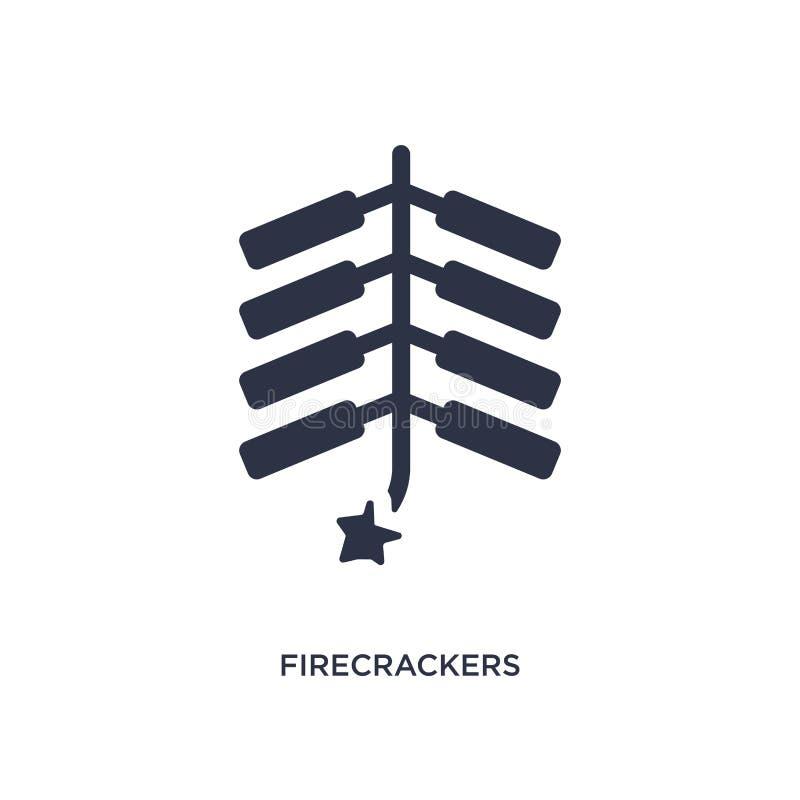 ícone dos foguetes no fundo branco Ilustração simples do elemento do conceito asiático ilustração royalty free