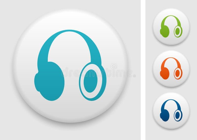 Ícone dos fones de ouvido ilustração stock
