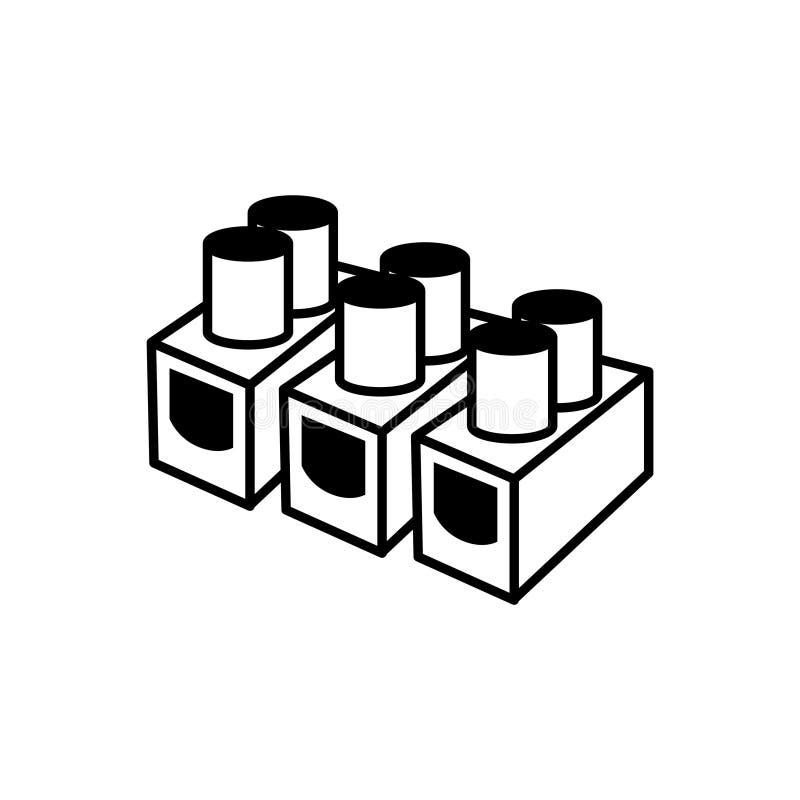 Ícone dos fornecedores dos conectores bondes, ilustração - sinal oxidado do metal do vintage No fundo branco ilustração royalty free